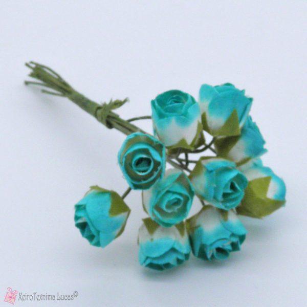 Τυρκουάζ χάρτινα λουλούδια