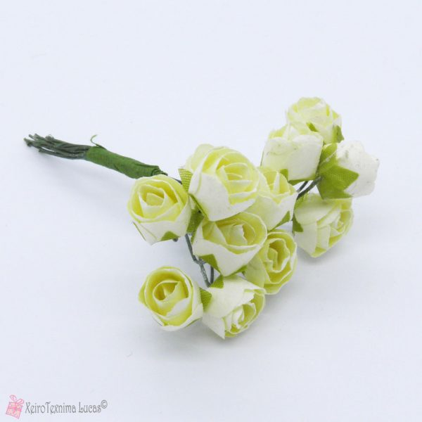 Εκρού χάρτινα λουλούδια