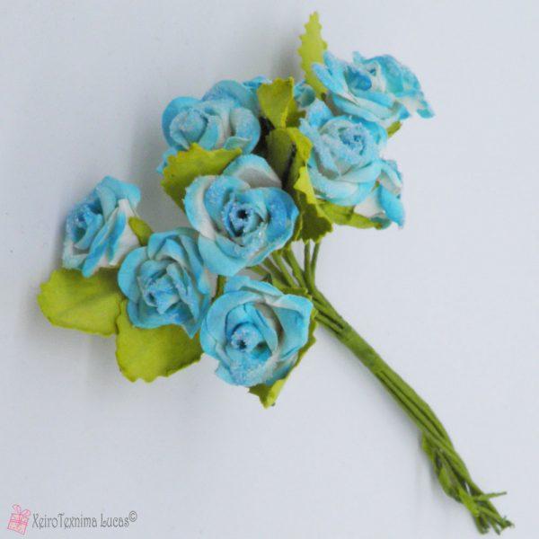 σιέλ χάρτινα λουλούδια