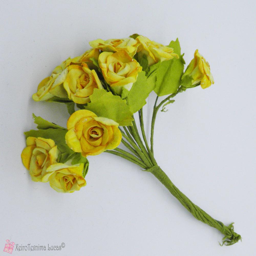 κίτρινα χάρτινα λουλούδια