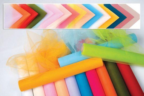 Γαλλικό τούλι ύφασμα σε πολλά χρώματα