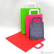 χάρτινες τσάντες με πλακέ χεράκι σε πολλά χρώματα