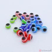 πλαστικές χάντρες μάτια σε πολλά χρώματα