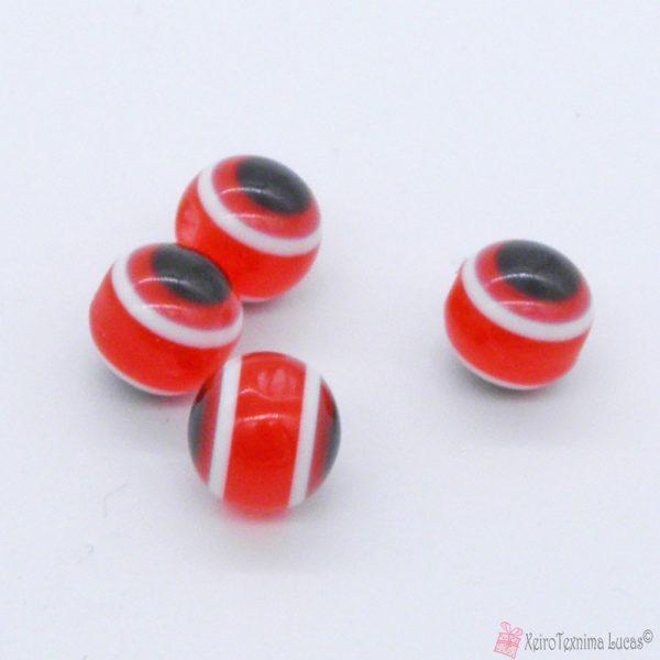 κόκκινες πλαστικές χάντρες μάτια