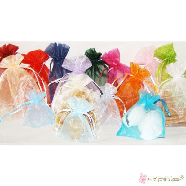 Πουγκιά οργάντζα σε πολλά χρώματα και διαστάσεις