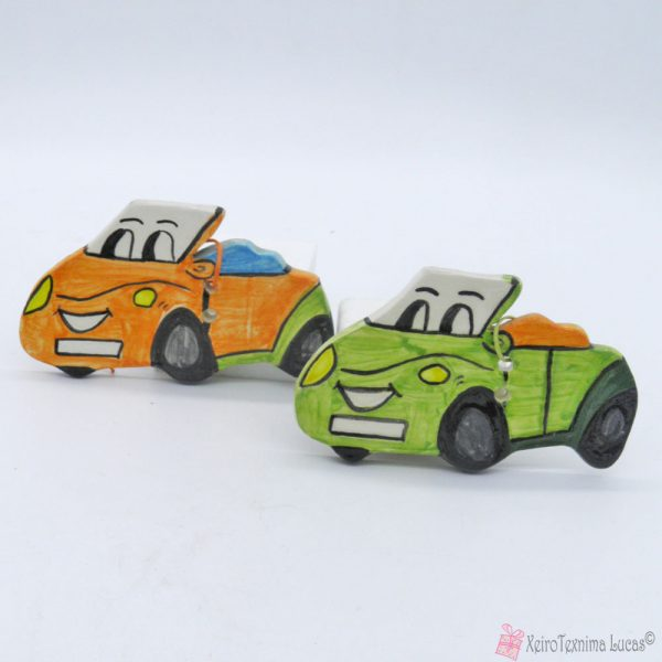 χειροποίητα κεραμικά αυτοκινητάκια