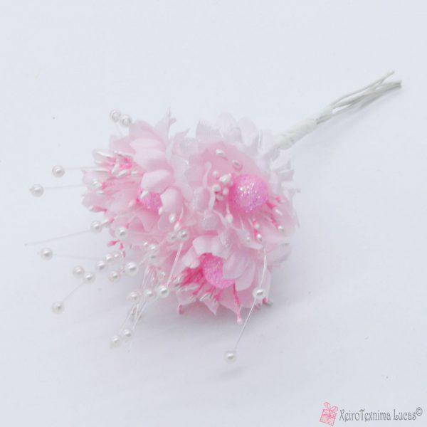 Ροζ υφασμάτινα λουλούδια