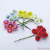 Υφασμάτινα διακοσμητικά λουλούδια