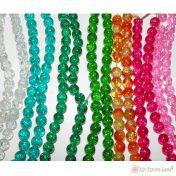 γυάλινες κρακελέ χάντρες σε πολλά χρώματα