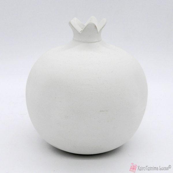 μπισκουι λευκό κεραμικό ρόδι