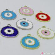 Μεταλλικό μάτι με σμάλτο σε διάφορα χρώματα