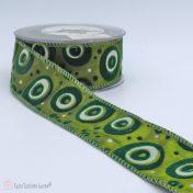 Πράσινη κορδέλα με κύκλους