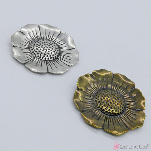 Επάργυρο ή μπρονζέ μεταλλικό λουλούδι