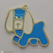 Μεταλλικό σκυλάκι με γαλάζιο σμάλτο