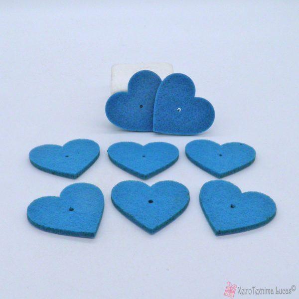 μπλε τσόχινες καρδιές
