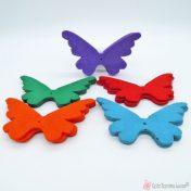 πεταλούδες από τσόχα σε διάφορα χρώματα