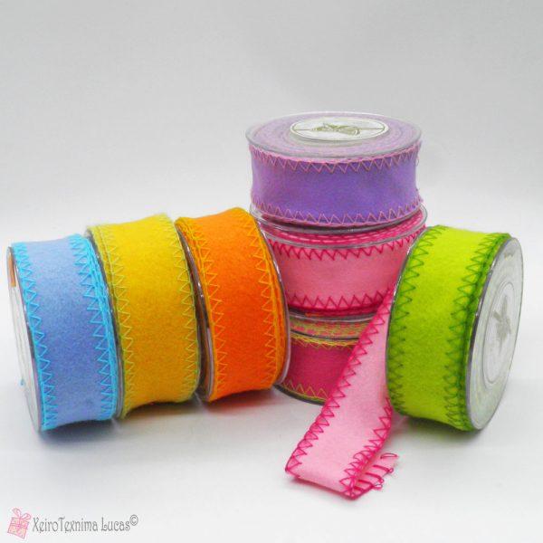 Κορδέλα τσόχα σε πολλά χρώματα