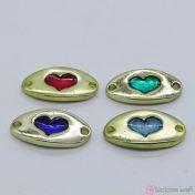 καρδιές με σμάλτο - μοτίφ για βραχιολάκια