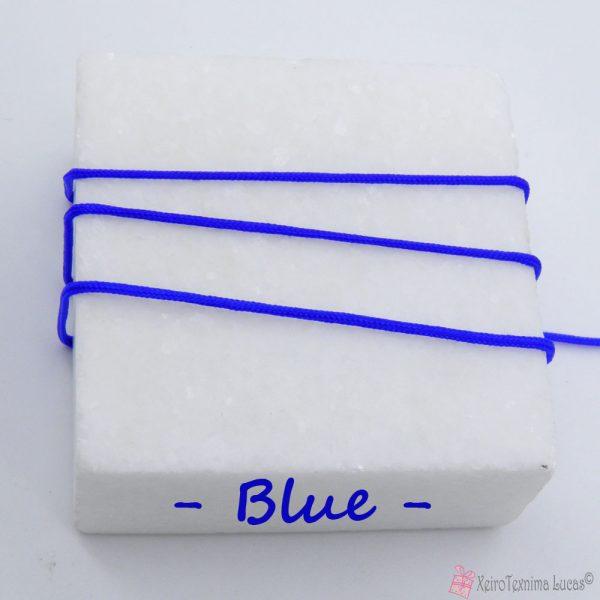 μπλε συνθετικό κορδόνι για μακραμέ