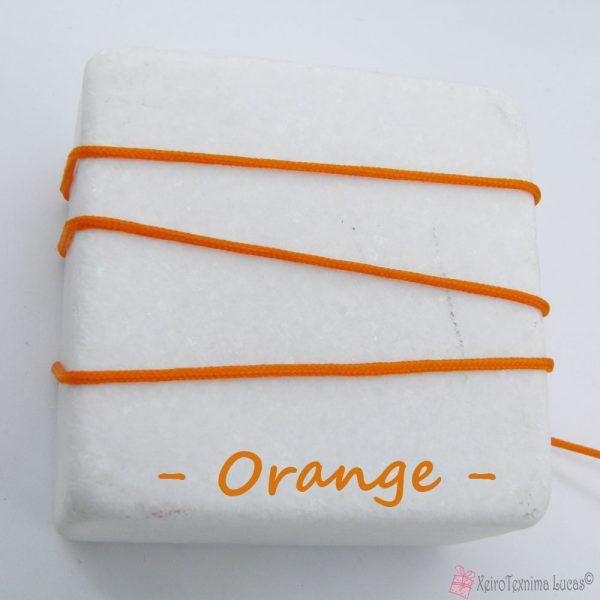 πορτοκαλί συνθετικό κορδόνι για μακραμέ