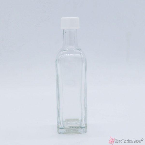 Γυάλινο μπουκάλι με βιδωτό πλαστικό καπάκι