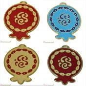 Μεταλλικό ρόδι με σμάλτο σε διάφορα χρώματα