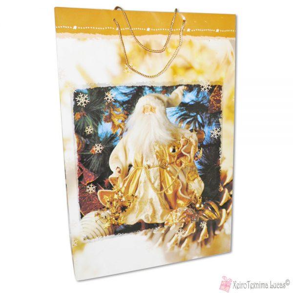 Μεγάλη χριστουγεννιάτικη τσάντα Άγιος Βασίλης