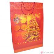 Μεγάλη κόκκινη χριστουγεννιάτικη τσάντα