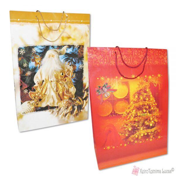 Μεγάλες χριστουγεννιάτικες τσάντες για δώρα