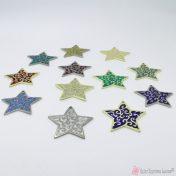 μεταλλικά αστέρια με σμάλτο σε πολλά χρώματα