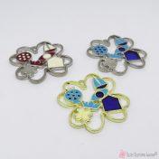 μεταλλικά τετράφυλλα με σμάλτο σε διάφορα χρώματα