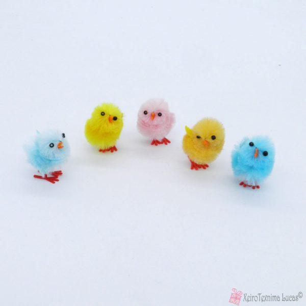 πολύχρωμα πουλάκια σινίλι