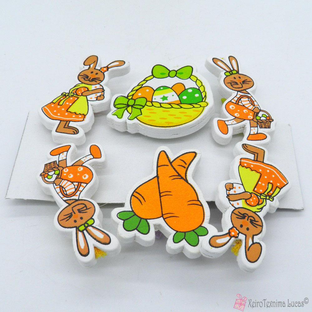 πορτοκαλί πασχαλινά μανταλάκια