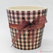 Καφέ κεραμικό γλαστράκι