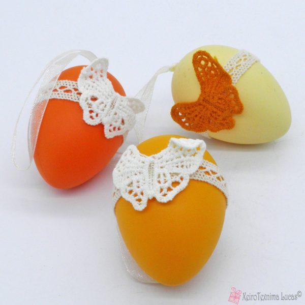 πασχαλινά αυγά με δαντέλα