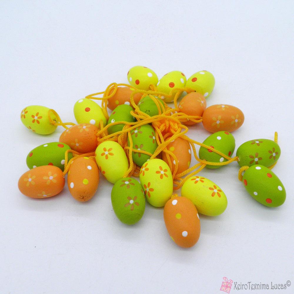 ξύλινα διακοσμητικά αυγά