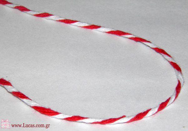 Ασπρο-Κόκκινο κορδόνι