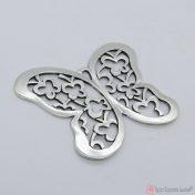 Μεταλλική επάργυρη πεταλούδα
