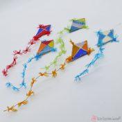 Χειροποίητος κεραμικός χαρταετός σε διάφορα χρώματα