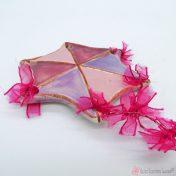Ροζ - Λιλά κεραμικός χαρταετός