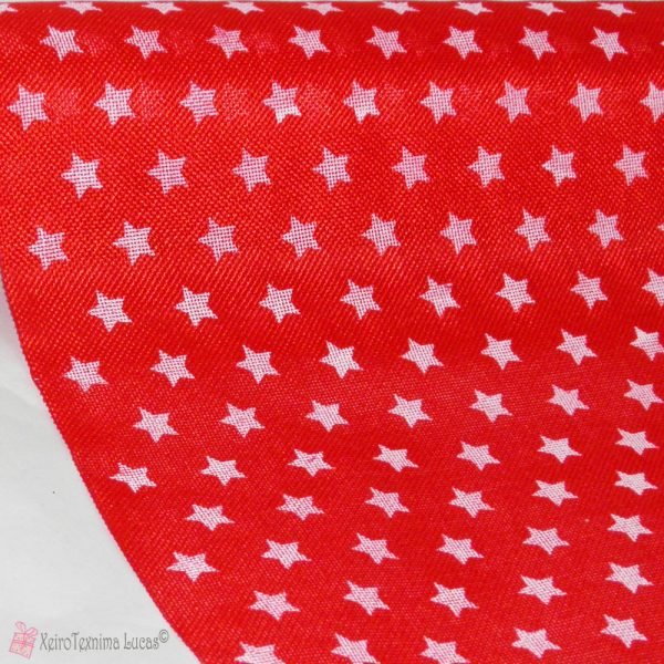 Κόκκινο ύφασμα με λευκά αστέρια
