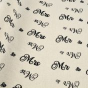 Βαμβακερό ύφασμα Mr & Mrs