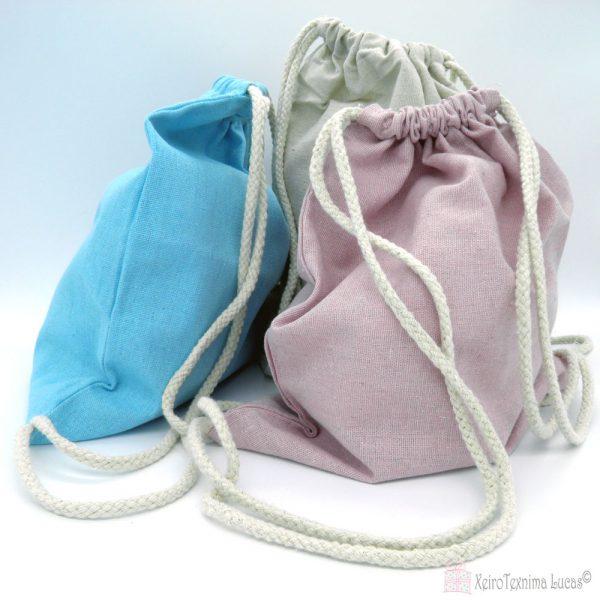 Λινά πουγκιά backbags