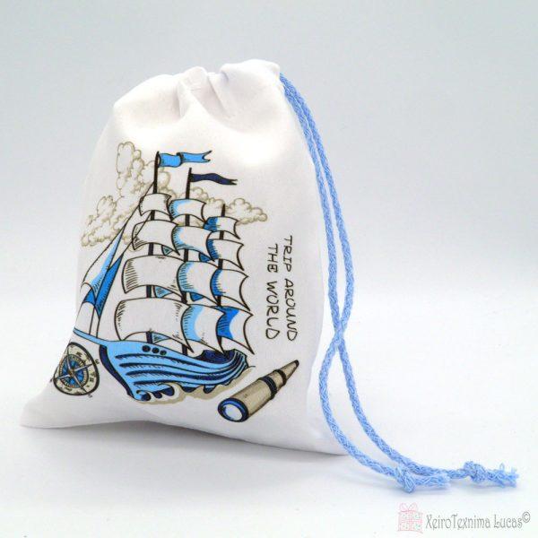 πουγκιά με καράβι