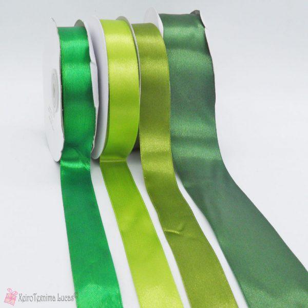 πράσινες σατέν κορδέλες