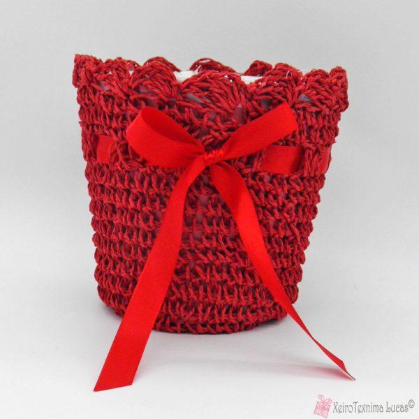 Κόκκινο κασπό με σχοινί