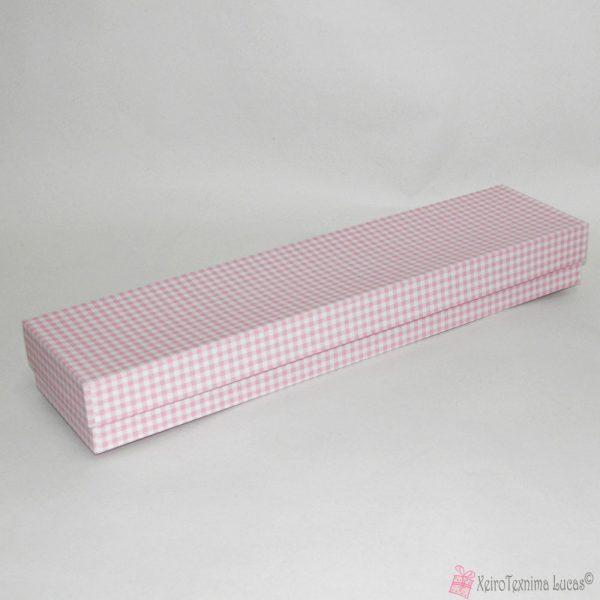 Ροζ καρό λαμπαδόκουτο