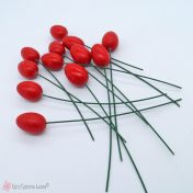 κόκκινα ξύλινα διακοσμητικά αυγά