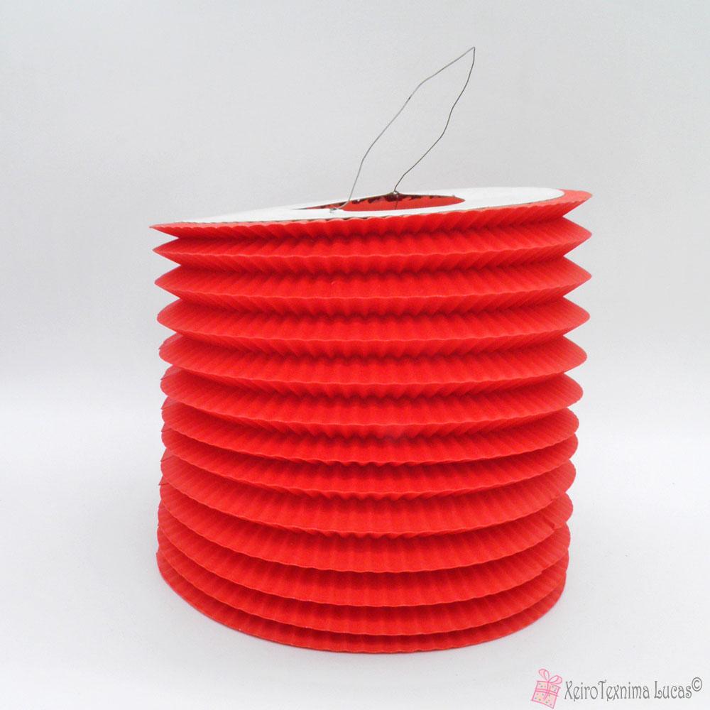 κόκκινα χάρτινα πασχαλινά φαναράκια