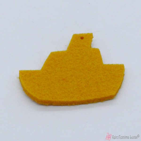 κίτρινο καραβάκι από τσόχα